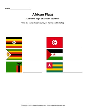 African Flags 5
