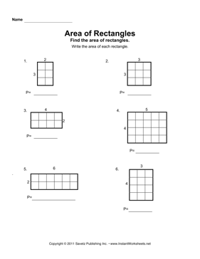 Worksheets Area Of Rectangle Worksheet area rectangles 1 instant worksheets 1