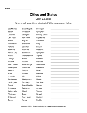 Cities States IA CO