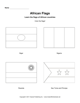 Color African Flags 10