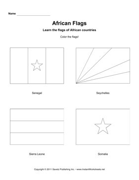 Color African Flags 11