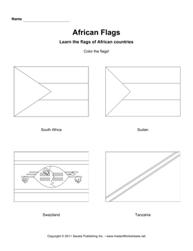 Color African Flags 12