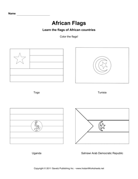 Color African Flags 13