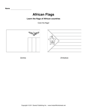 Color African Flags 14