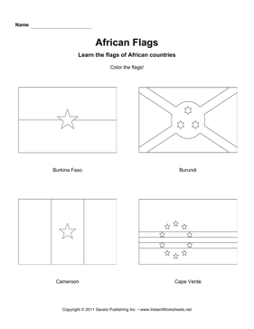 Color African Flags 2