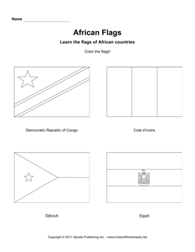 Color African Flags 4
