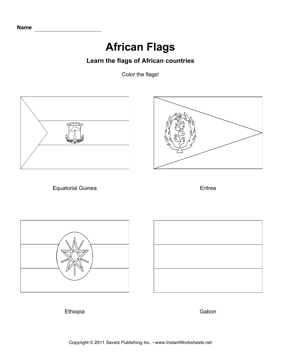 Color African Flags 5