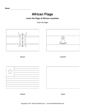 Color African Flags 7