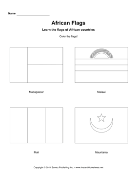 Color African Flags 8