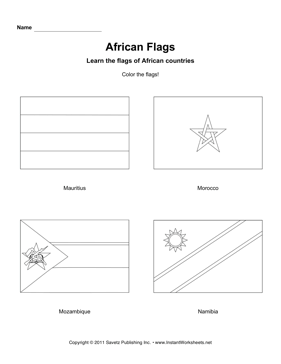 Color African Flags 9
