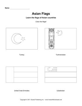 Color Asian Flags 11