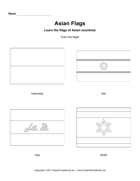 Color Asian Flags 4