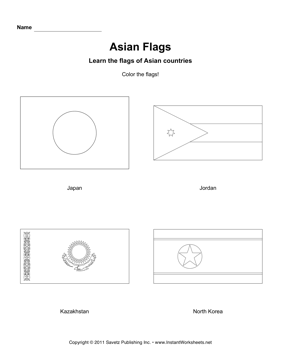 Color Asian Flags 5