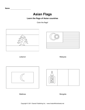 Color Asian Flags 7