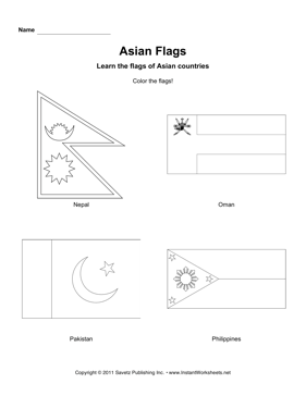 Color Asian Flags 8