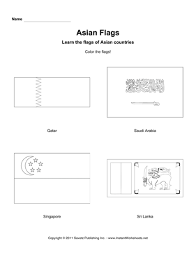 Color Asian Flags 9