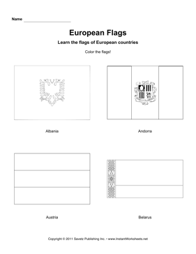 Color European Flags 1