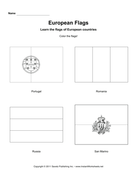 Color European Flags 10
