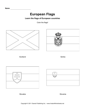 Color European Flags 11