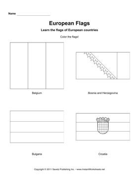Color European Flags 2