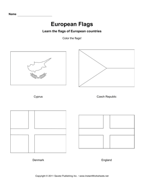Color European Flags 3