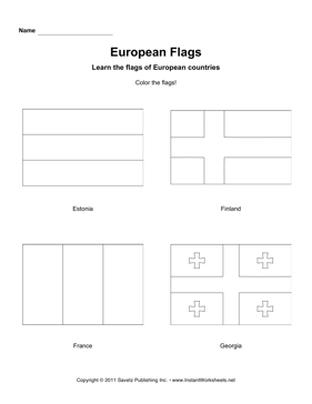 Color European Flags 4