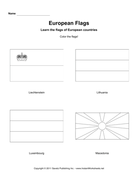 Color European Flags 7
