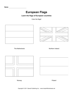 Color European Flags 9