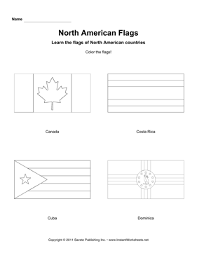 Color North American Flags 2
