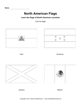 Color North American Flags 4