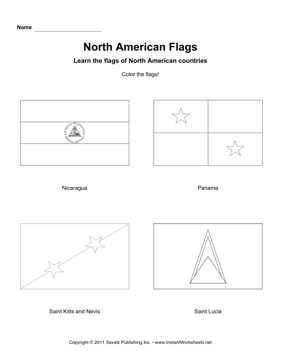 Color North American Flags 5
