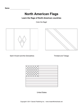Color North American Flags 6