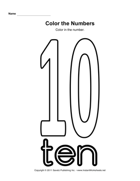 Color Number 10