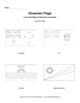 Color Oceania Flags 1