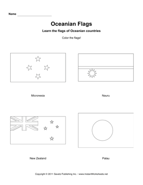 Color Oceania Flags 2