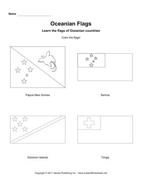 Color Oceania Flags 3