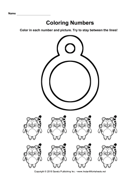 Coloring Numbers Eight