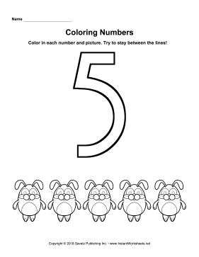 Coloring Numbers Five