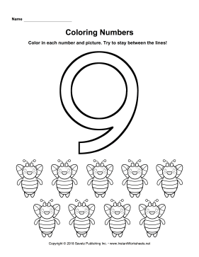 Coloring Numbers Nine