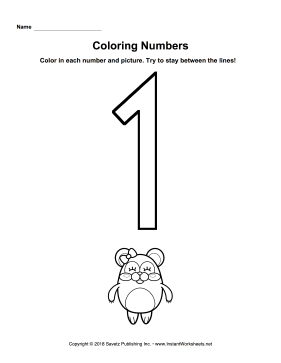 Coloring Numbers One