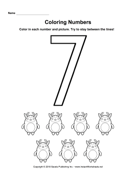 Coloring Numbers Seven
