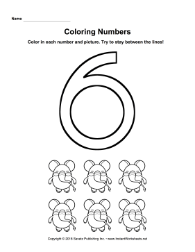 Coloring Numbers Six
