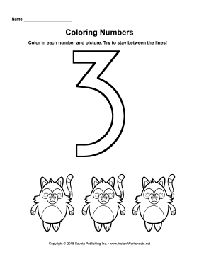Coloring Numbers Three