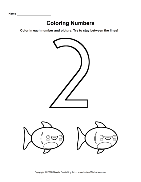 Coloring Numbers Two