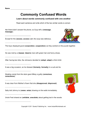 Commonly Confused Words 1
