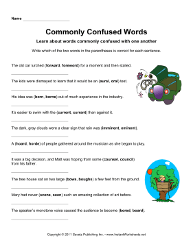 Commonly Confused Words 10