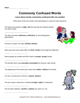 Commonly Confused Words 4