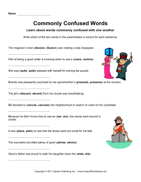 Commonly Confused Words 7