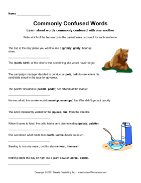 Commonly Confused Words 8