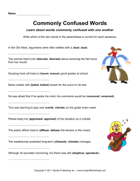 Commonly Confused Words 9